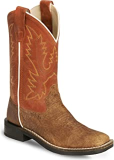 [Old West] Boys 'ヴィンテージCowboy Boot Square Toe?–?bsc1870