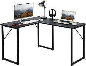 """Aingoo L-Shaped Desk 50.6"""" Computer Corner Desk Modern Workstation for Home Office,Writing Desk, Gaming Desk,Black"""