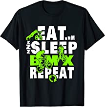 Eat Sleep BMX Repeat T-Shirt Funny Bicycle Gift Motocross