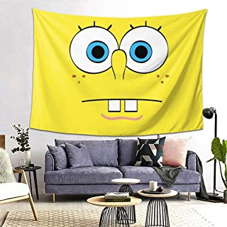 BRIESLY Spongebob Sofa Cover Cotton BlanketWall Hanging Art Home Decor for Bedroom Living Room