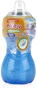 Nuby No-Spill Easy Grip Cup, 10 Ounce, Colors May Vary, 1 Pack