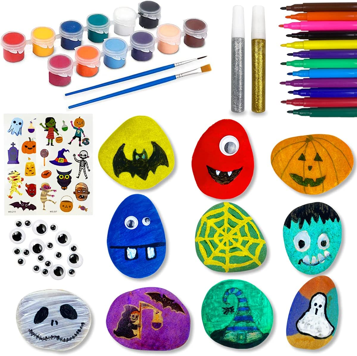 QINGQIU Large special price Halloween Rock Painting Arts Max 79% OFF for Crafts Kit