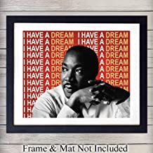 Martin Luther King Jr. Quote Wall Art Print - Ready to Frame Photo (8X10) - Home Decor - Makes a Great Educational Gift for Schools and Teachers - MLK Inspirational and Motivational - I Have A Dream