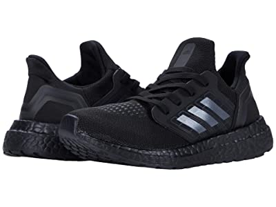 adidas Kids UltraBOOST EL (Little Kid) (Core Black/Core Black/Solar Red) Kids Shoes