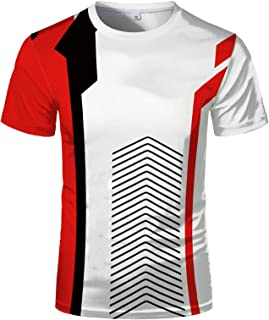 2021 Summer New Fashion Adult 3D Shirt, Chinese Red Fashion Printed Hip-hop Style Youth T-shirt