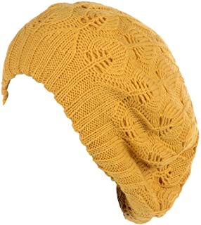 7c352d00d1c Be Your Own Style BYOS Winter Chic Warm Double Layer Leafy Cutout Crochet Chunky  Knit Slouchy