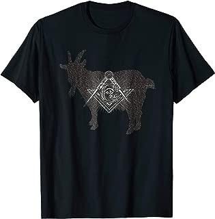 Masonic Goat Rider Mason Words T Shirt