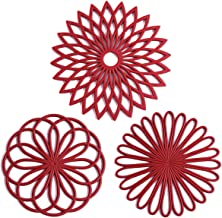 Set of 3 Silicone Trivet Mat - Hot Pot Holder Hot Pads for Table & Countertop - Trivet for Hot Dishes - Non-Slip & Heat Re...