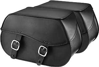 Nomad USA Extra-Large Leather Throw-Over Motorcycle Saddlebags (Plain)