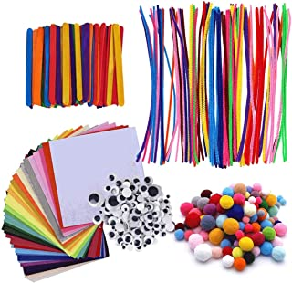 LELE 590PCS Pipe Cleaner Craft Set Creative Assorted Craft Supplies DIY Accessories