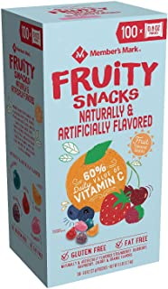 Fruity Snacks, Gummy Candy Snack Size Packing, Vitamin C, 0.8 Ounces Pouch (Box of 100)