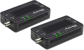 Actiontec MoCA 2.5 Network Adapter for Ethernet Over Coax (2 Pack) – 1 Gbps Ethernet, Coax to Ethernet Adapter, Enhanced S...