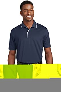 Sport-Tek Men's Dri Mesh Polo with Tipped Collar and Piping