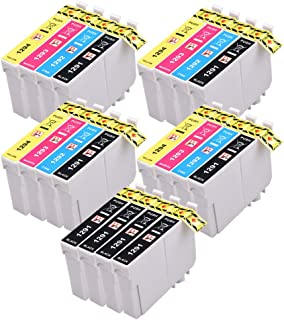 PerfectPrint Compatible Tinta Cartucho Reemplazo Para Epson Stylus SX-235W 525WD 620FW 535WD BX-305F 305FW 305FW B42WD 320FW 525WD 535WD T1295 (Negro/Cian/Magenta/Amarillo, 20-Paquete)