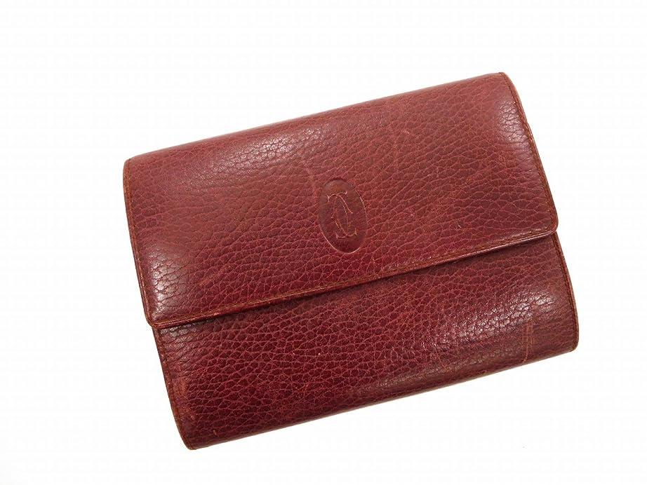レビュー仕事に行く農業[カルティエ] Cartier 二つ折り財布 レザー X10680 中古