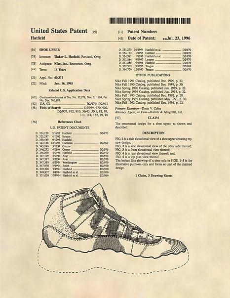 Patent Prints - Air Jordan Retro 11 Sneaker Art - Patent Art Poster (8.5 x 11) - 59