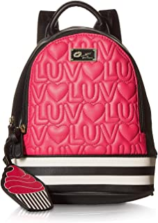 Luv Betsey Womens Jaz Mid Size PVC Backpack