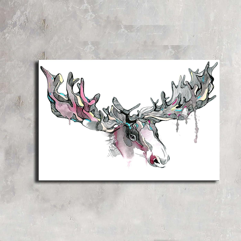 Home Decoration Ranking TOP12 Reindeer Max 76% OFF elk wall art CanvasCanvas Wa animals