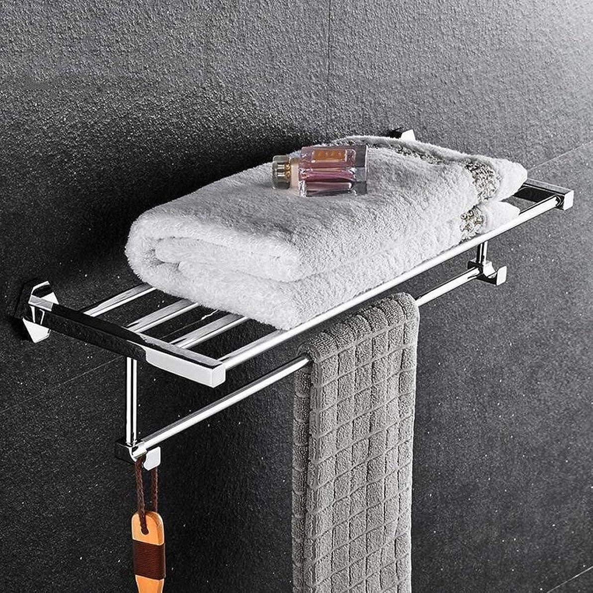 消費者意識構造的Dongy 浴室の銅タオルラック浴室の棚ネジ組み込みインストールRollsnownow (Size : 60CM)