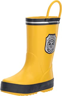 carter's Boys' Mars Rain Boot, Yellow, 11 M US Little Kid