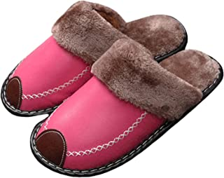 JJZZ Warm Cotton Shoes, Women's Winter Indoor Thick-Soled Household Shoes, Korean Wool, Couple Shoes for Men and Women, Sl...