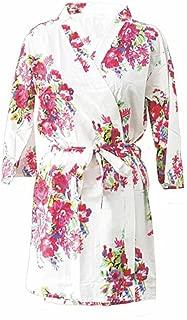 Floral Robe, Unique Wedding Robe, Floral Kimono, Floral Cotton Robe, Cotton Kimono Robe, Floral Kimono, Unique Kimono Robe