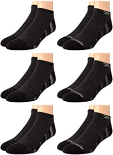Reebok Men's Athletic No-Show Low Cut Socks with Cushion Comfort (12 Pack)