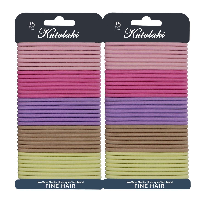 60 Pcs Value Pack Elastic Hair Ties for Women, Ponytails Hair Holders, Black No Metal Stretch Elastic Hair Bands, 4MM Girls Hair