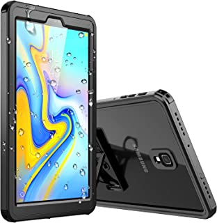 Samsung Galaxy Tab A 10.5 inch Waterproof Case, Temdan IPX8 Waterproof Full-Body Rugged Case with Built-in Screen Protector for Galaxy Tab A 10.5 inch (SM-T590/T595/T597) No Pen Version (Black/Clear)