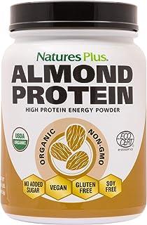 NaturesPlus Almond Protein Powder - 1.04 lbs, Unflavored - USDA Certified Organic, Non-GMO Vegan Protein Powder, No Added ...