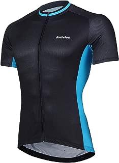 ANIVIVO Bike Jersey Men with Pockets,Men Cycling Jersey Short Sleeves Road Bike Shirts Men Biking Clothing