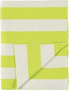 Meri Meri Neon Yellow & Ivory Stripe Knitted Blanket