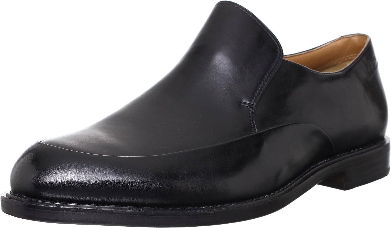 Clarks Mens Smart Dorset Step Leather shoes in Black