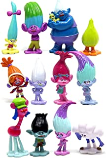 Troll Toys Set of 12,Mini Trolls Figures Poppy Troll Doll for Kids Party Supplies,Poppy and Branch and More