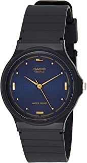 Casio Men's Black Resin Quartz Watch with Blue Dial