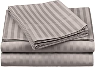 Impressions by Luxor Treasures 100% Egyptian Cotton 650 Thread Count Sheet Set, Grey, California King, 4-Piece