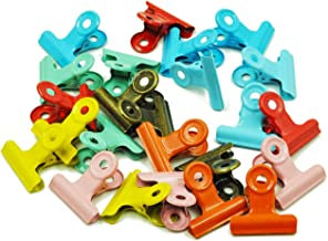 Metal Hinge Clips Bulldog Clips,Clips for Photos, Maps, Drawings, Art Work,Price Tag,Pack of 24 Multicolor (Metal Multicolour)