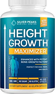 Height Growth Maximizer - Natural Height Pills to Grow Taller - Made in USA - Growth Pills with Calcium for Bone Strength ...