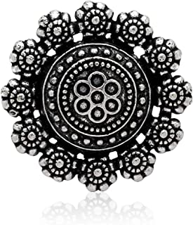 Jaipur Mart Brass Silver Plated Oxidised Ring (GSR240$P)