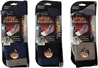 DINY Home & Style 3 Pair Mens Heated Socks Thermal Insulated Mega Thermal Heat Zone for All Cold Weather TOG 2.3 Rating