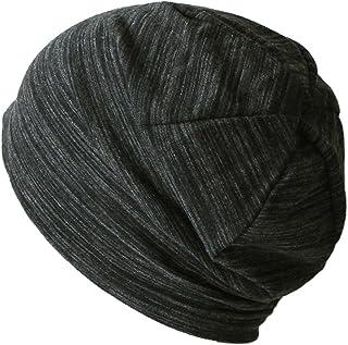 抗がん剤/医療用帽子 ビンテージ風ボーダーサマーキャップ(夏用)