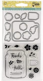 Hampton Art JBSTMP-1764 Jillibean Soup Shaker Clear Stamps & Die Set-Mason Jar,