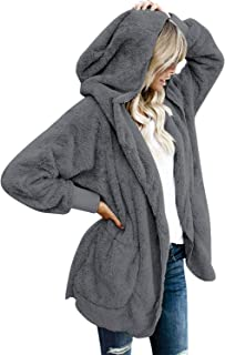 LookbookStore Women's Oversized Open Front Hooded Draped...