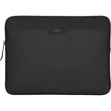 Targus Newport Modern Style Sleeve with Durable Water-Repellent Nylon, Back Zip Pocket Pouch, Protective Slipcase fits 13-14-Inch Laptop/Notebook, Black (TSS1000GL) (TSS100000GL)