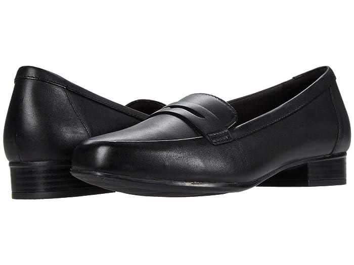 Retro Vintage Flats and Low Heel Shoes Clarks Juliet Coast Black Leather Womens Shoes $84.95 AT vintagedancer.com