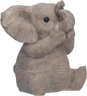 Fdit Ozdoby słonia z motywem realistycznego wyglądu, delikatna, nietoksyczna, trwała, z wysokiej jakości żywicy, do salon...