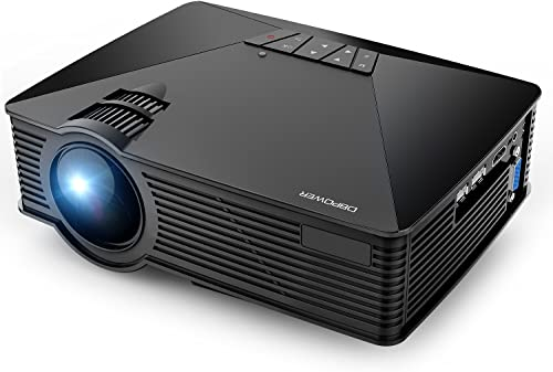 Projector, DBPOWER GP15 Mini Projector, 20000Hours LED +50% Lumens Video Projector with 120'' Display, Support 1080P,...