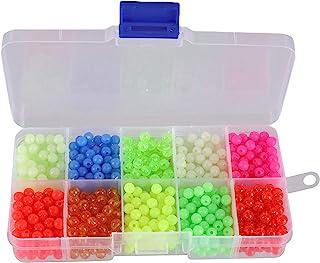 Facikono Fishing Beads Assorted Set, 1000pcs 5mm Round...