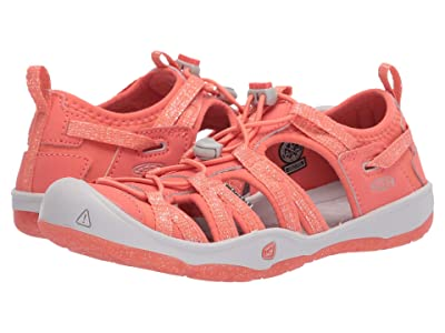 Keen Kids Moxie Sandal (Little Kid/Big Kid) (Coral/Vapor) Girl