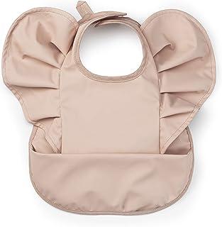 Elodie Details Vattentät Haklapp med Ficka för Bebis och Barn från 3 Månader - Powder Pink, Rosa
